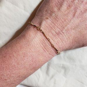Vintage Delicate Gold Tone & Crystal Avon Bracelet